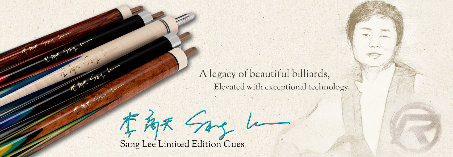Sang Lee Special Edition Carom Cues