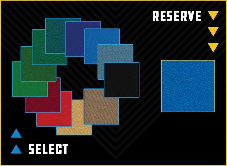 Predator Arcadia Pool Table Felt Color Options