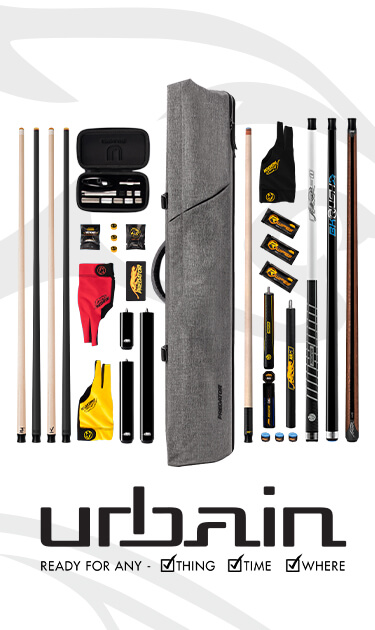 Urbain Pool Cue Cases Brown and Light Gray